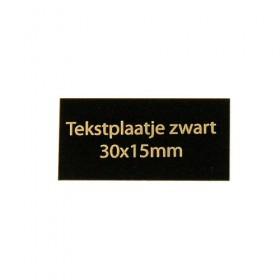 Tekstplaatje zwart 30x15 mm