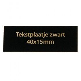 Tekstplaatje zwart 40x15 mm