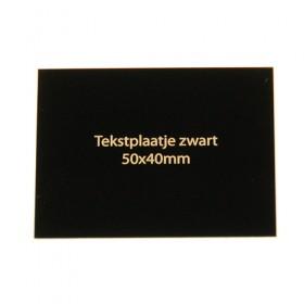Tekstplaatje zwart 50x40 mm