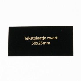 Tekstplaatje zwart 50x25 mm