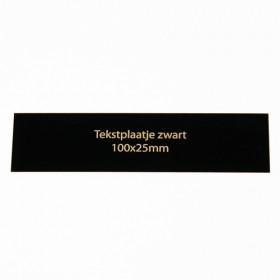 Tekstplaatje zwart 100x25 mm