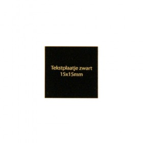 Luxe relatiegeschenken van Artihove - Tekstplaatje zwart 15x15 mm - 018003MTP