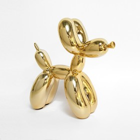 Luxe relatiegeschenken van Artihove - Sculptuur balloon dog goud middel - 019468MZG