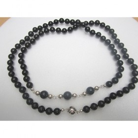 Luxe relatiegeschenken van Artihove - De kam, collier onyx zilver - ANKM000021