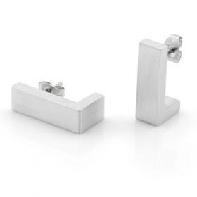 Luxe relatiegeschenken van Artihove - Clic, oorstekers zilverkleur - CLCM001025