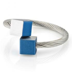 Luxe relatiegeschenken van Artihove - Clic, ring blok blauw - CLCM001039