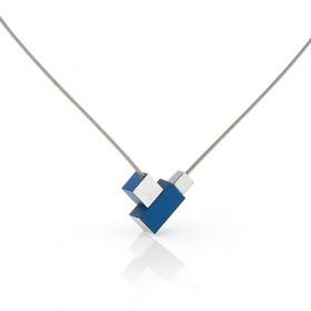 Luxe relatiegeschenken van Artihove - Clic, collier staaf blok blauw - CLCM001040