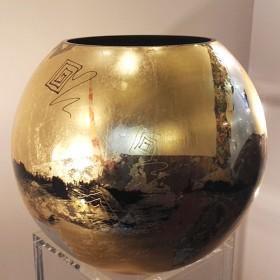 Luxe relatiegeschenken van Artihove - Fidrio, bolvaas golden art bladgoud - FIDM001015
