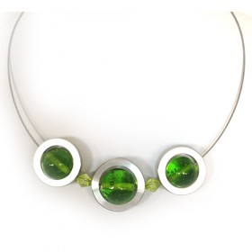 Stommels, 3 ringen/transp.groen