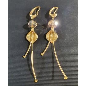 Fotini, oorbellen goud met steentje