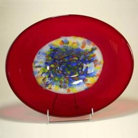 Luxe relatiegeschenken van Artihove - Loranto, schaal rood gekleurd - LOR001010