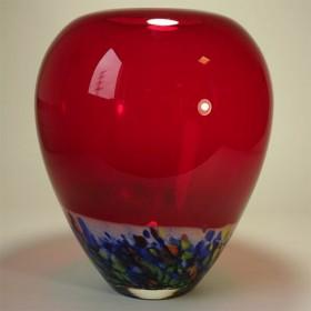 Loranto, vaas rood gekleurd