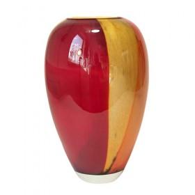 Luxe relatiegeschenken van Artihove - Loranto, vaas glas rood - LOR001026