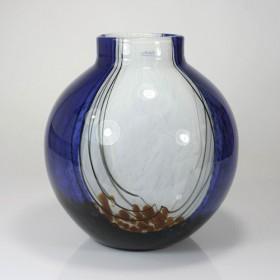 Luxe relatiegeschenken van Artihove - Loranto, vaas glas blauw - LOR001027