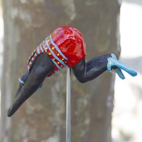 Luxe relatiegeschenken van Artihove - Vliet, badpak rood/blauwe streep - NVV008036