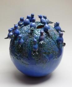 Luxe relatiegeschenken van Artihove - Van der wel, mussenbol blauw - WELM001032