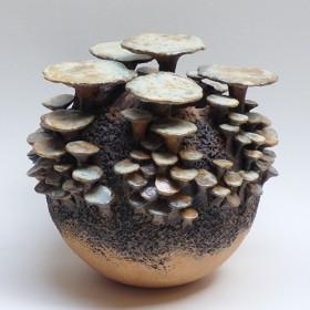Luxe relatiegeschenken van Artihove - Van der wel, paddenstoelenbol bruin - WELM001034
