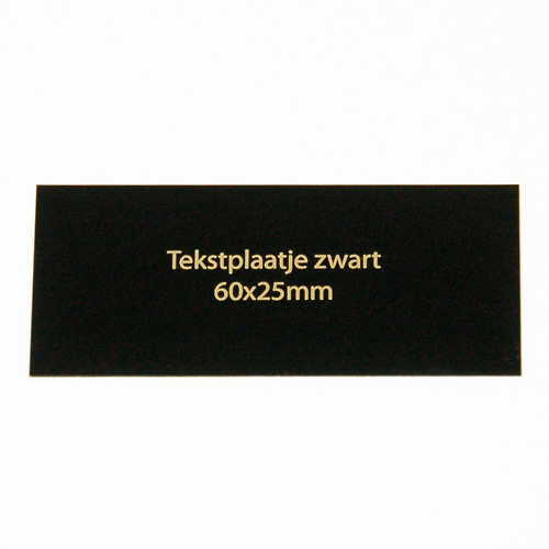 Luxe relatiegeschenken van Artihove - Geschenk Tekstplaatje zwart 60x25 mm - 000090MTP kopen van Artihove |  - 000090MTP
