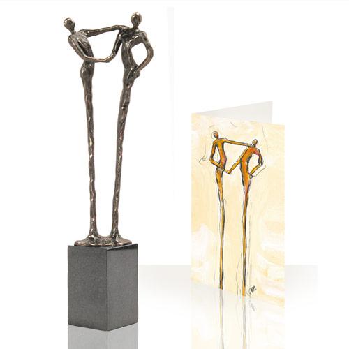 Luxe relatiegeschenken van Artihove - Sculptuur - Brons - Dank - 001108MSBQ kopen in de Artihove sculpturen shop - 001108MSBQ