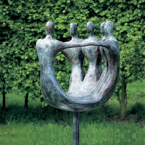 Luxe relatiegeschenken van Artihove - Sculptuur - Brons - Met elkaar - 001164MSB kopen in de Artihove sculpturen shop - 001164MSB