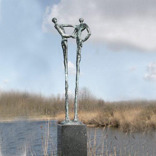 Luxe relatiegeschenken van Artihove - Sculptuur - Brons - De handdruk - 001206MSB kopen in de Artihove sculpturen shop - 001206MSB