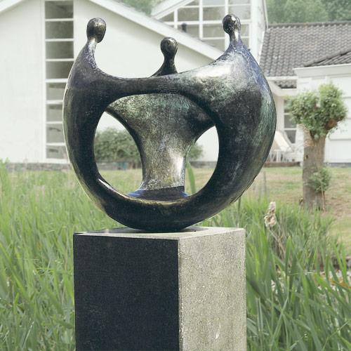 Luxe relatiegeschenken van Artihove - Sculptuur - Brons - Bolwerk van samenwerking - 010103MSB kopen in de Artihove sculpturen shop - 010103MSB