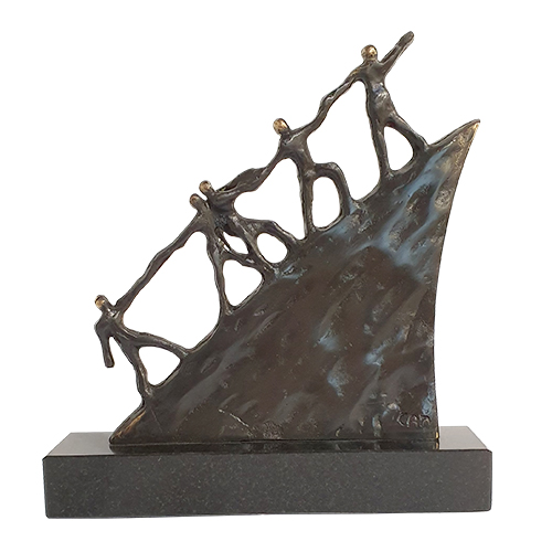Luxe relatiegeschenken van Artihove - Sculptuur - Brons - On the road - 011606MSBQ kopen in de Artihove sculpturen shop - 011606MSBQ