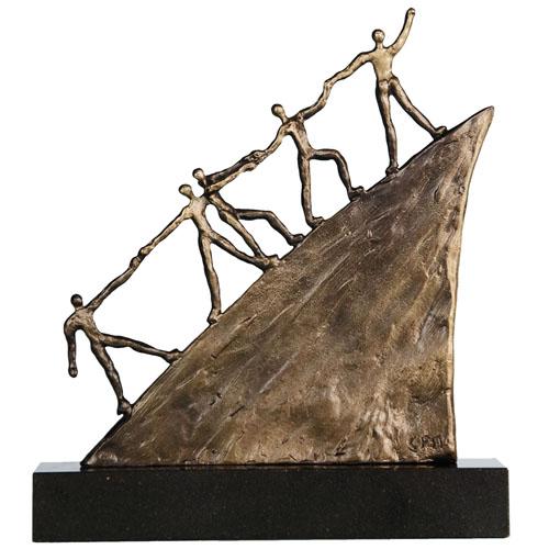 Luxe relatiegeschenken van Artihove - Sculptuur - Brons - On the road - 011606MSBQ kopen in de Artihove sculpturen shop - 011606MSBQ