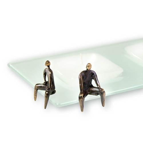 Luxe relatiegeschenken van Artihove - Sculptuur - Glas - Kandelaar 'aandacht voor elkaar' - 014307MGLQ kopen in de Artihove sculpturen shop - 014307MGLQ