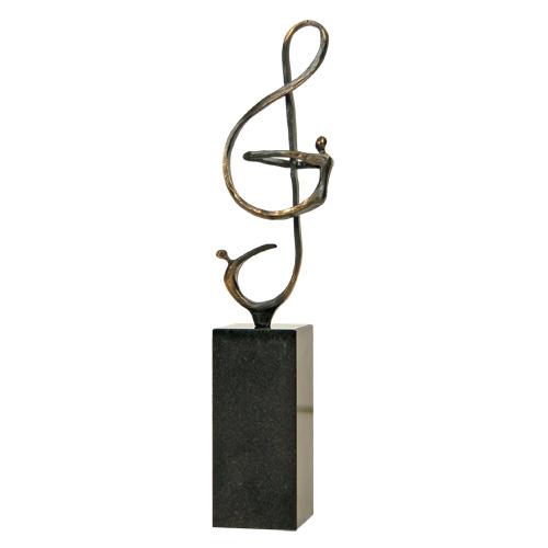 Luxe relatiegeschenken van Artihove - Sculptuur - Verbronsd - Er zit muziek in! - 015409MSL kopen in de Artihove sculpturen shop - 015409MSL