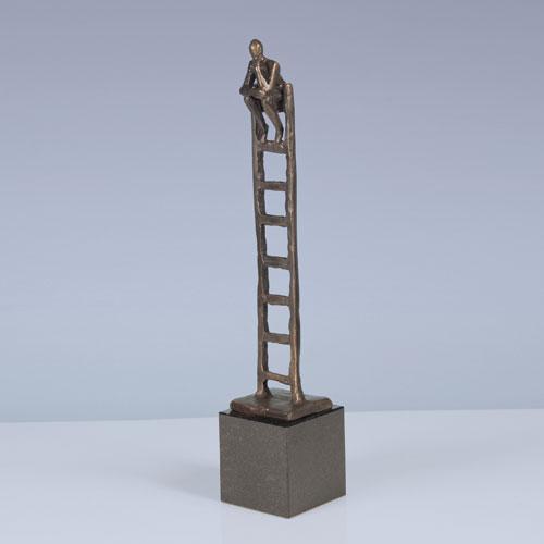 Luxe relatiegeschenken van Artihove - Sculptuur - Brons - De denkende mens - 015658MSBQ kopen in de Artihove sculpturen shop - 015658MSBQ