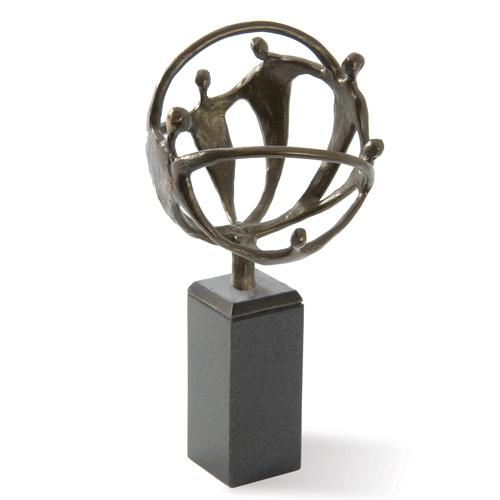 Luxe relatiegeschenken van Artihove - Sculptuur - Verbronsd - Communicatielijnen met persoonlijke interesse - 016104MSLQ kopen in de Artihove sculpturen shop - 016104MSLQ