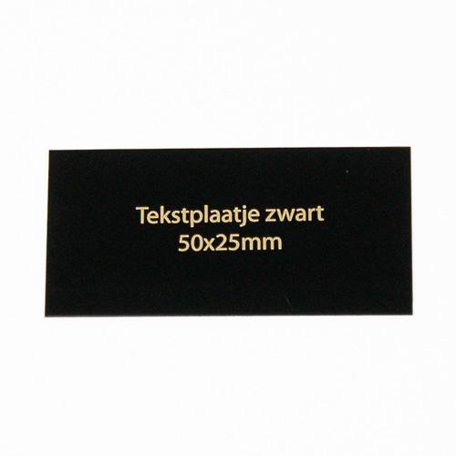 Luxe relatiegeschenken van Artihove - Geschenk Tekstplaatje zwart 50x25 mm - 016578MTP kopen van Artihove |  - 016578MTP