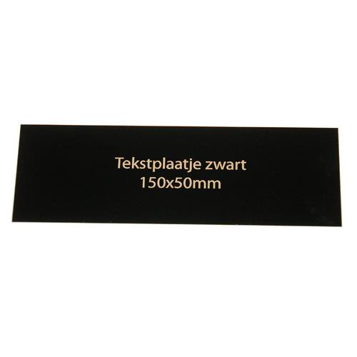 Luxe relatiegeschenken van Artihove - Geschenk Tekstplaatje zwart 150x50 mm - 016582MTP kopen van Artihove |  - 016582MTP