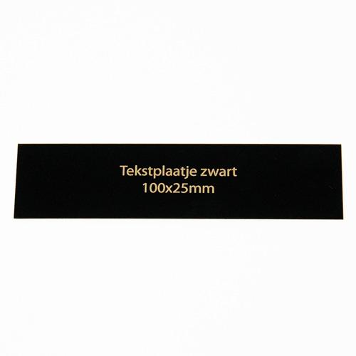 Luxe relatiegeschenken van Artihove - Geschenk Tekstplaatje zwart 100x25 mm - 016584MTP kopen van Artihove    - 016584MTP
