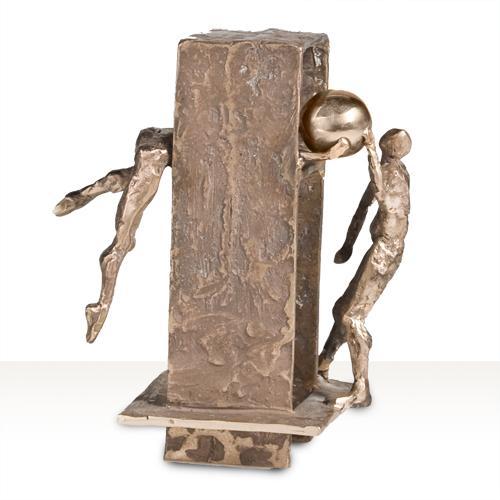 Luxe relatiegeschenken van Artihove - Sculptuur - Brons - Spel van uitwisseling - 016708MSB kopen in de Artihove sculpturen shop - 016708MSB
