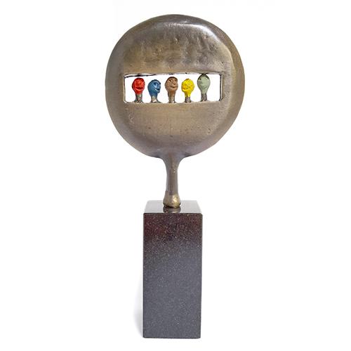 Luxe relatiegeschenken van Artihove - Sculptuur - Verbronsd - Kijk naar de toekomst - 017805MSLQ kopen in de Artihove sculpturen shop - 017805MSLQ