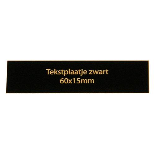 Luxe relatiegeschenken van Artihove - Geschenk Tekstplaatje zwart 60x15 mm - 018002MTP kopen van Artihove |  - 018002MTP