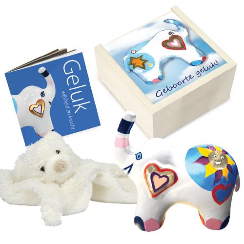 Luxe relatiegeschenken van Artihove - Geschenk Geboorte geluk - 018095MNF kopen van Artihove | Doopgeschenken - 018095MNF