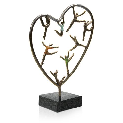 Luxe relatiegeschenken van Artihove - Sculptuur - Verbronsd - Hartekinderen - 018242MSL kopen in de Artihove sculpturen shop - 018242MSL