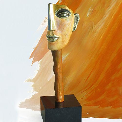 Luxe relatiegeschenken van Artihove - Sculptuur - Verbronsd - Visie - 018523MSLQ kopen in de Artihove sculpturen shop - 018523MSLQ