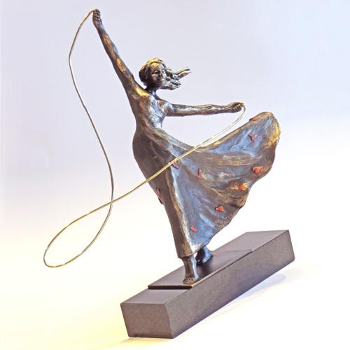 Luxe relatiegeschenken van Artihove - Sculptuur Geluk is voor iedereen - 018587MSLQ kopen in de Artihove sculpturen shop - 018587MSLQ