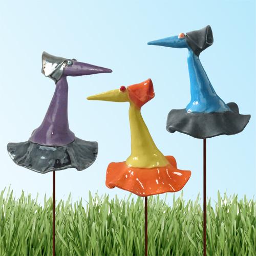 Luxe relatiegeschenken van Artihove - Geschenk Fantasievogel set van 3 - 018559MKP kopen van Artihove | Keramische sculpturen - 018559MKP