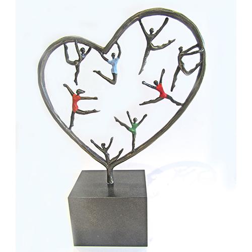 Luxe relatiegeschenken van Artihove - Sculptuur - Verbronsd - Hartekinderen - 018895MSL kopen in de Artihove sculpturen shop - 018895MSL