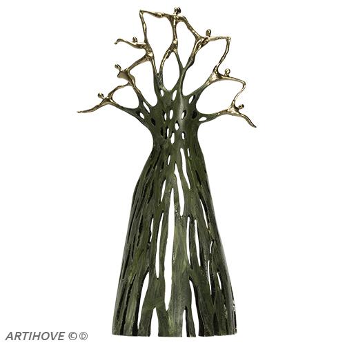 Luxe relatiegeschenken van Artihove - Sculptuur - Verbronsd - Sterke gouden krachten - 018913MSL kopen in de Artihove sculpturen shop - 018913MSL