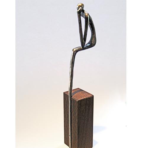 Luxe relatiegeschenken van Artihove - Sculptuur - Verbronsd - De denker - 019081MSLQ kopen in de Artihove sculpturen shop - 019081MSLQ