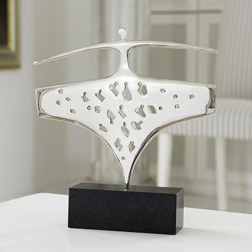 Luxe relatiegeschenken van Artihove - Sculptuur - Vernikkeld - Synergie - 019260MZG kopen in de Artihove sculpturen shop - 019260MZG