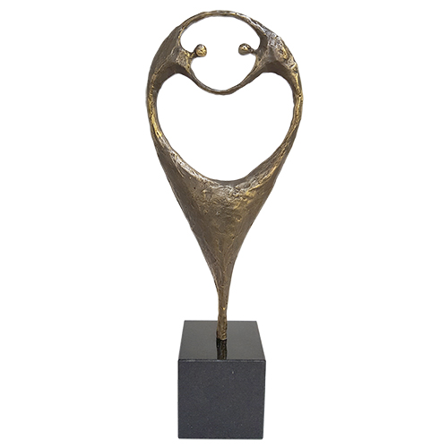 Luxe relatiegeschenken van Artihove - Sculptuur - Verbronsd - Verbonden door passie - 019289MSL kopen in de Artihove sculpturen shop - 019289MSL