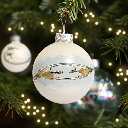 Luxe relatiegeschenken van Artihove - Kerstbal Oog voor elkaar - 019382MNF