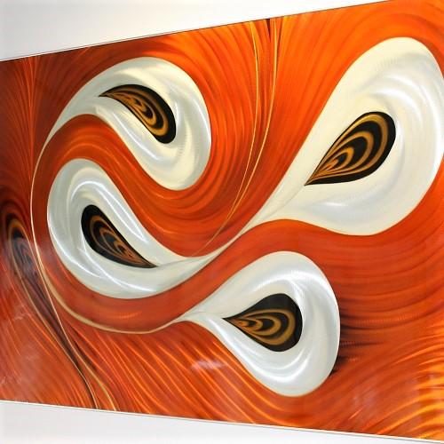 Luxe relatiegeschenken van Artihove - Geschenk Aluminium orange swirl - ALU001012 kopen van Artihove    - ALU001012